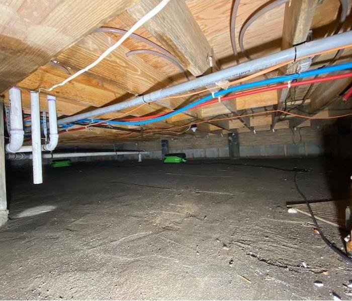 Clean dry crawl space