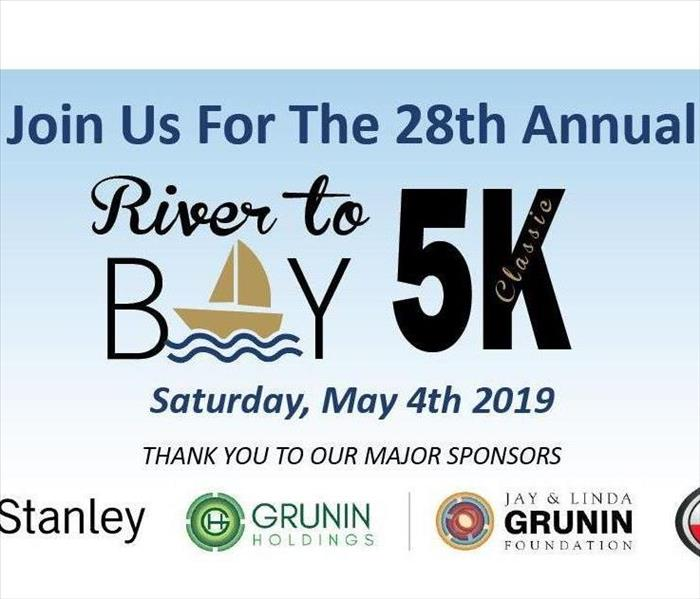 Image has details of the Kiwanis Club of Greater Toms River 29th Annual River to Bay 5K
