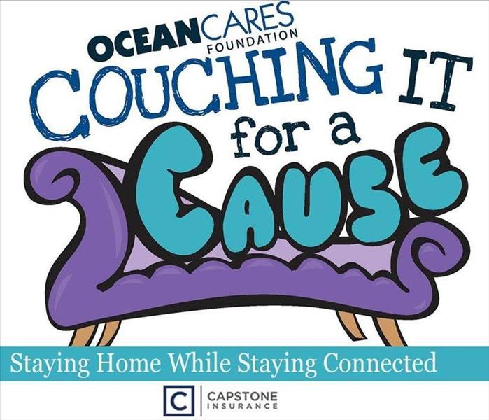 OceanCares Flyer with a couch saying
