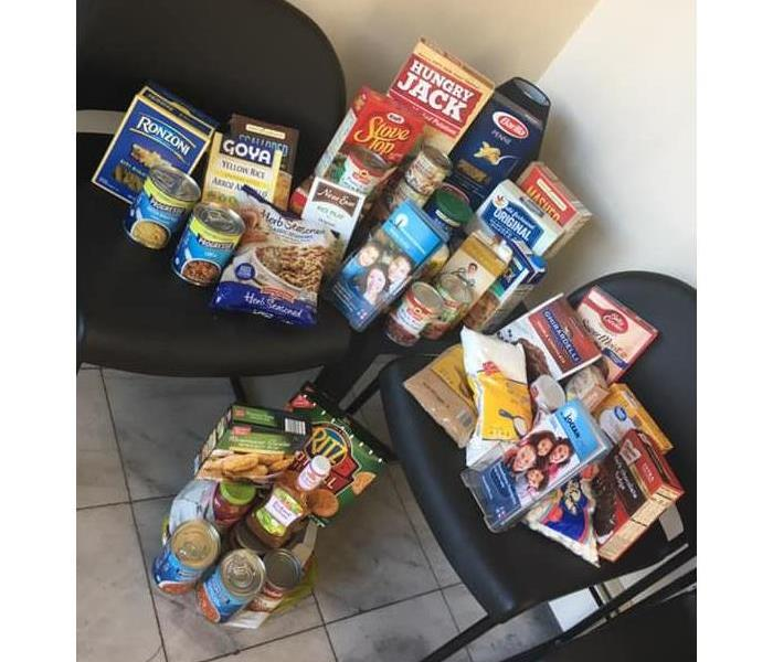 Food Donations for Ocean Mental Health Services from SERVPRO of Toms River