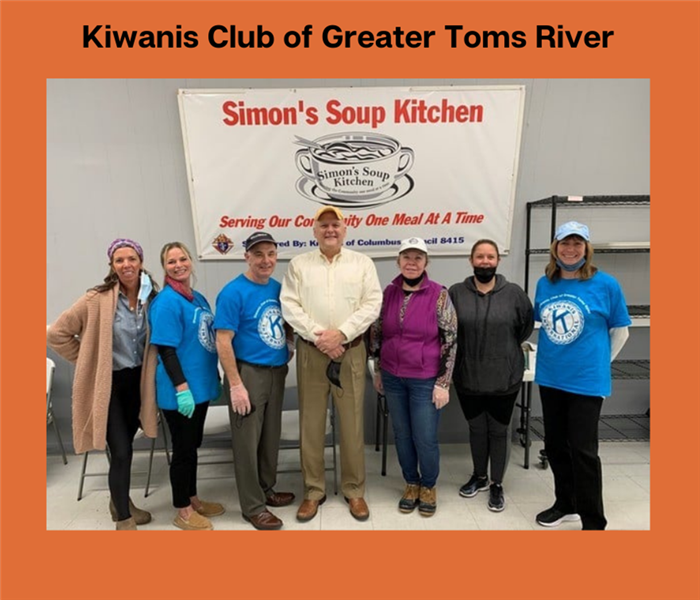 Volunteers from the Kiwanis Club of Greater Toms River at Simon's Soup Kitchen