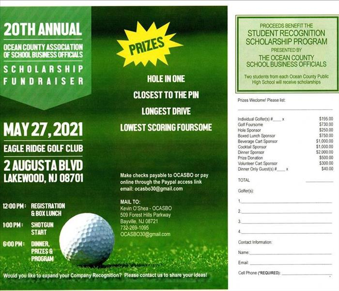 Flyer for 20th Annual OCASBO Scholarship Fundraiser