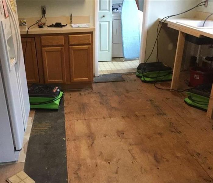 Water Damage from a Sink Leak in a Toms River Home