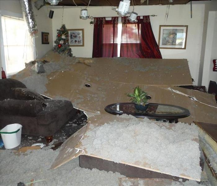 Cleanup After a Ceiling Collapse in Whiting, NJ