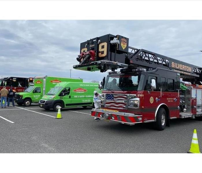 Silerton Fire Truck getting sanitized by SERVPRO of Toms River
