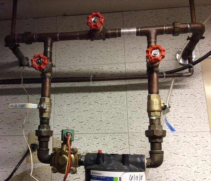Commercial Corroded Pipes at Local Dental Office Cause Water Damage
