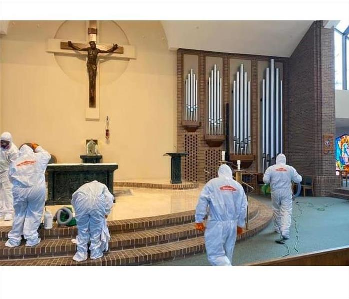 SERVPRO of Toms River technicians cleaning a local church in Toms River